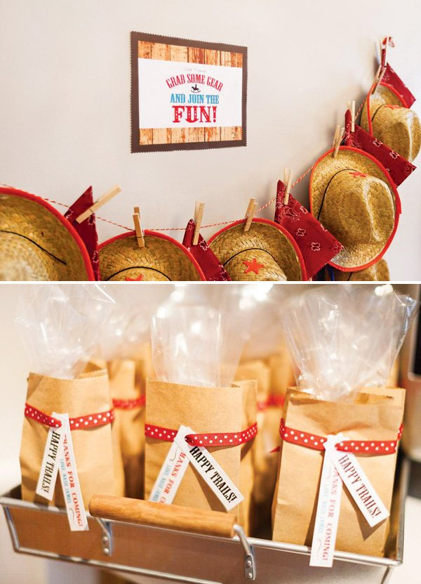 cowboy hat party favors