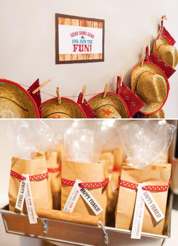 cowboy hat party favors