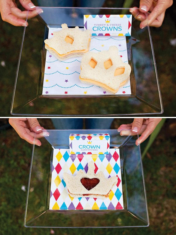 Royal Birthday Party Crown Sandwiches