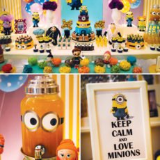 despicable me birthday party dessert table