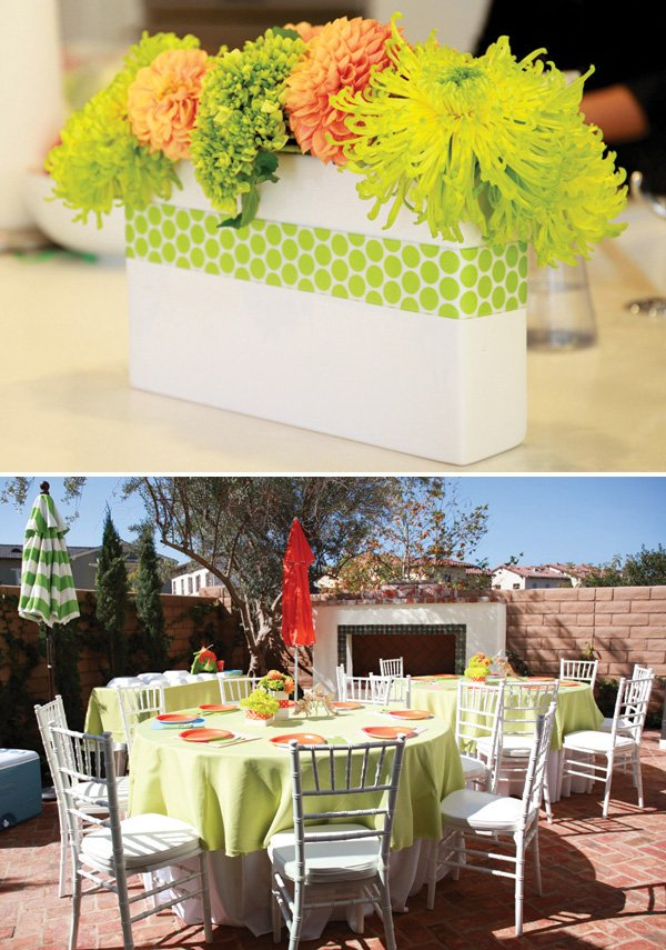 dinosaur birthday party adults' outdoor tables
