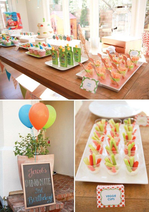 dinosaur birthday party food ideas