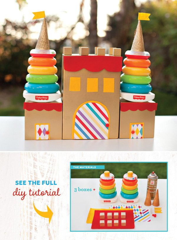 DIY Birthday Castle Centerpiece by HWTM