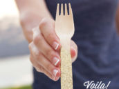 DIY Glittered Forks