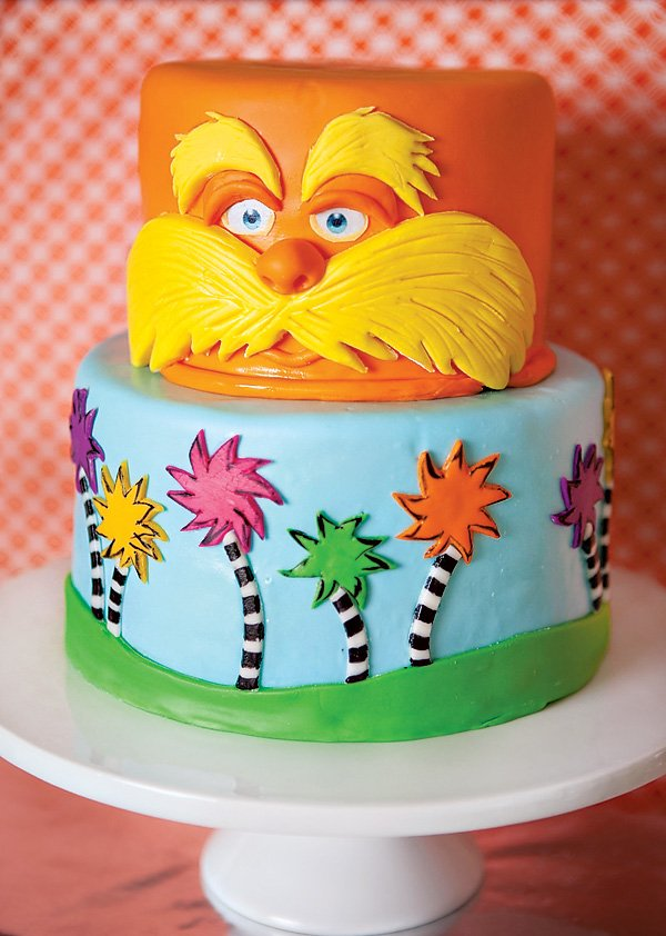 dr. seuss lorax birthday cake