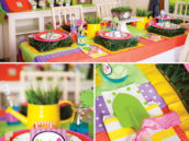 dr. seuss lorax party tablescape and decor
