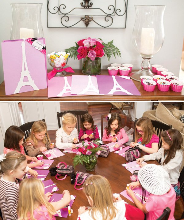 eiffel tower decorating party activity
