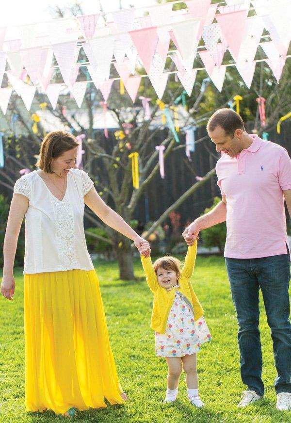 family birthday party photo shoot