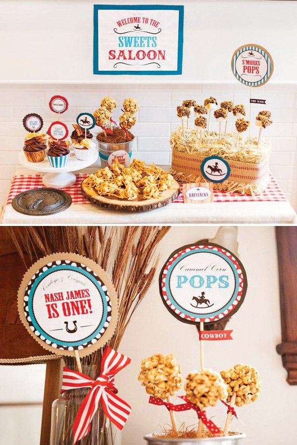 cowboy farm party dessert ideas