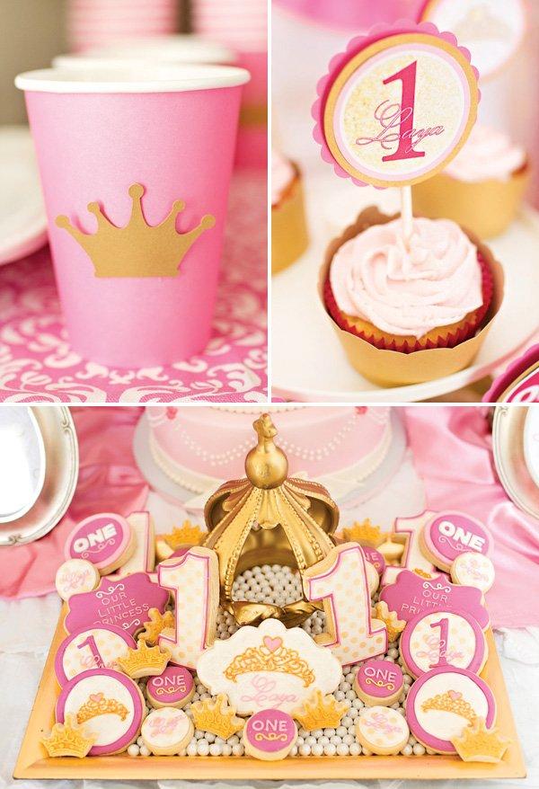 first birthday princess cookeis