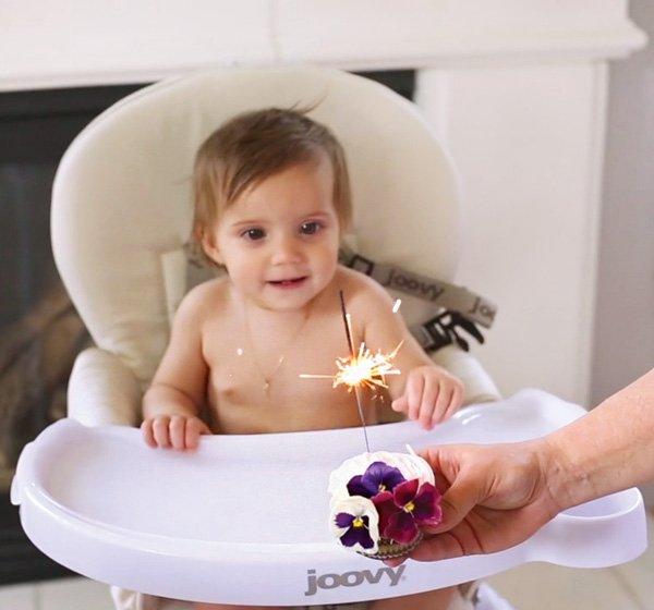 first birthday sparkler cupcake