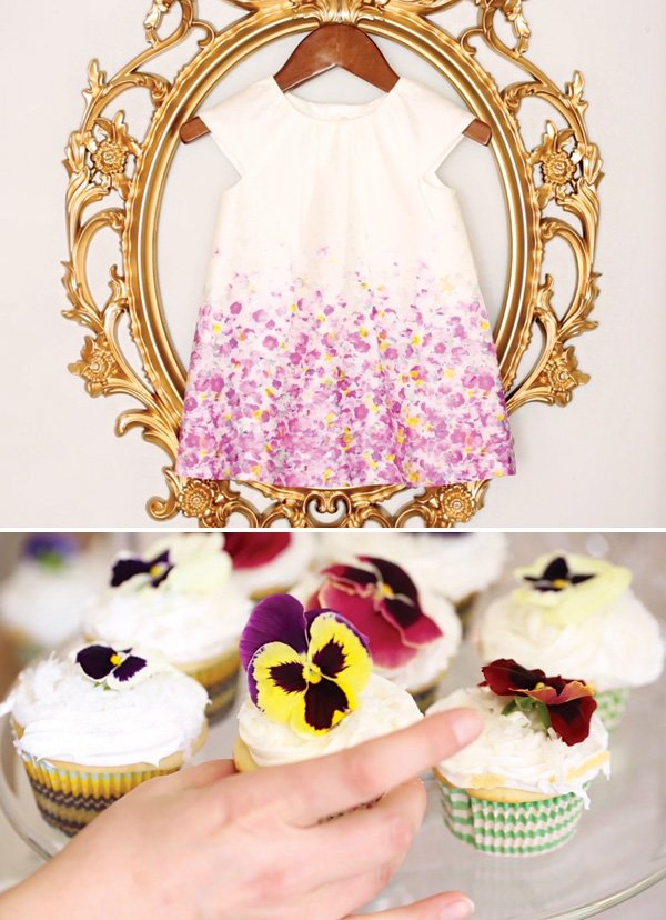 floral first birthday dress