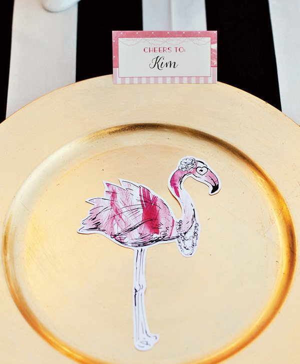 Printable Flamingo Party Silhouettes {+ Summer Blog Hop}