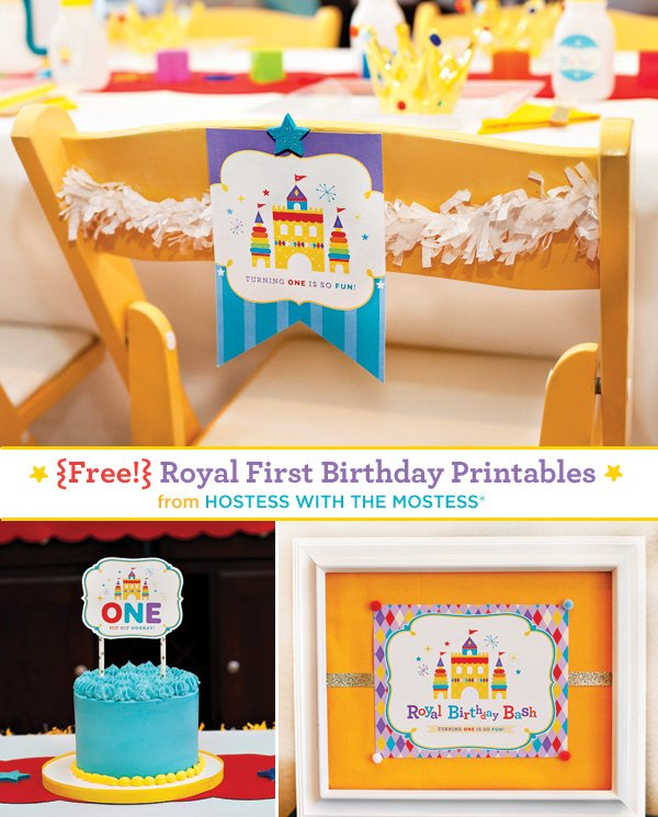 Free Printables Royal First Birthday - by Hostess with the Mostess