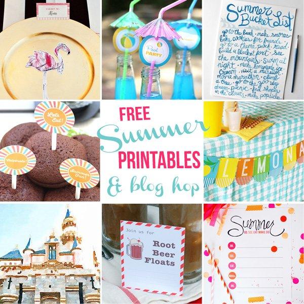 free summer printables - blog hop