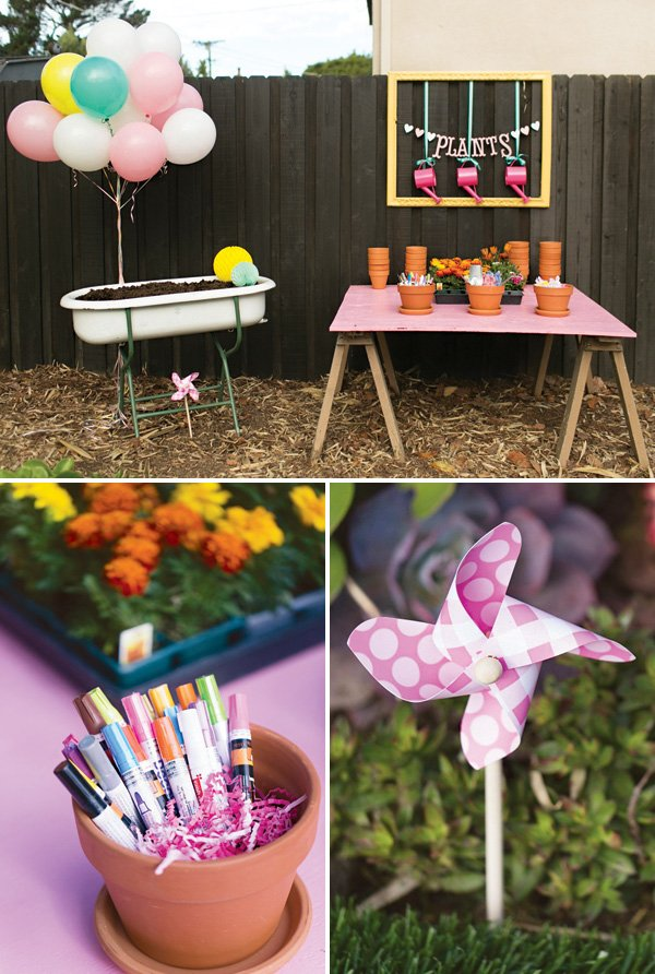 gardening birthday party activity
