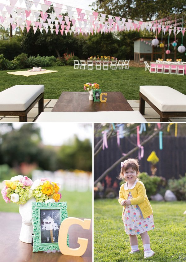 girly backyard birthday party