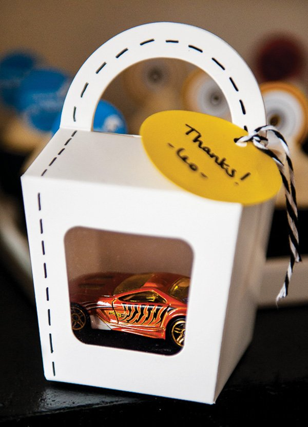 hot wheels race car party favor