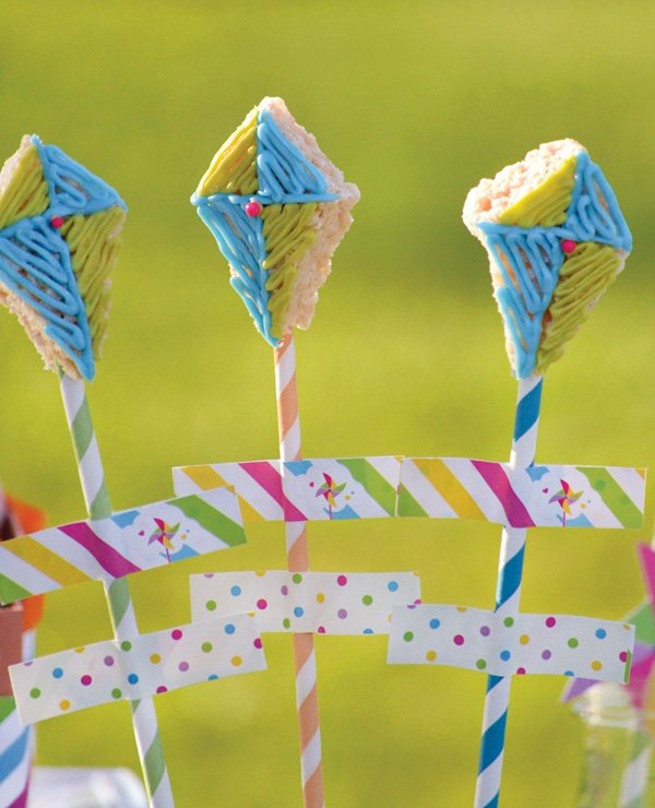 kite rice krispie treat pops