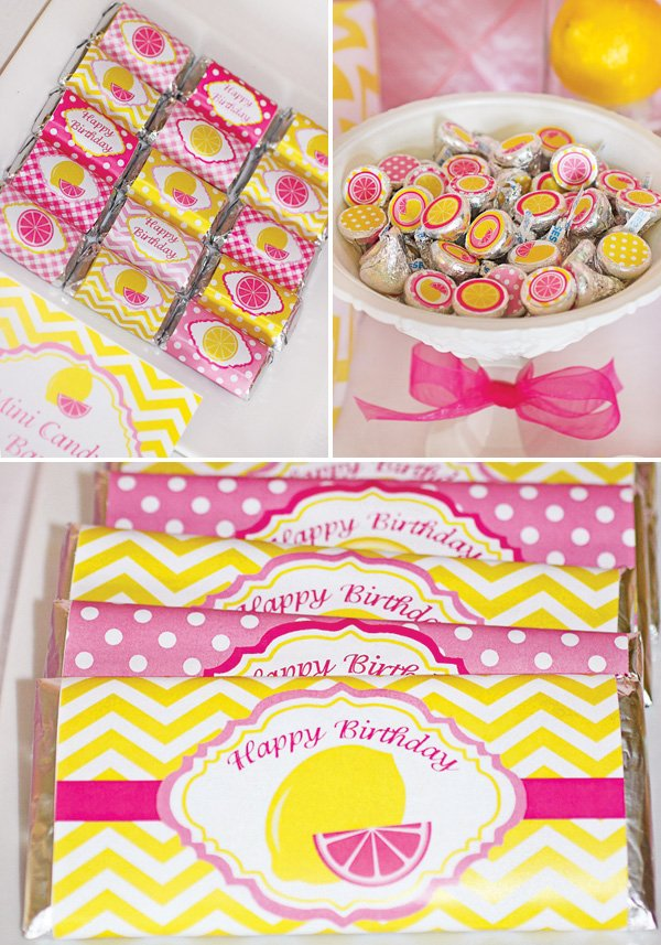 lemonade chocolate bar wrappers and stickers