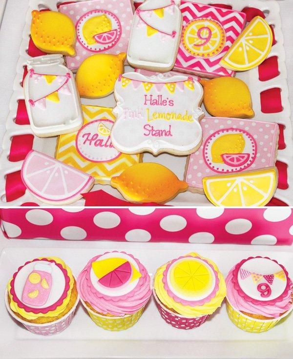 lemonade cookies and cupcakes