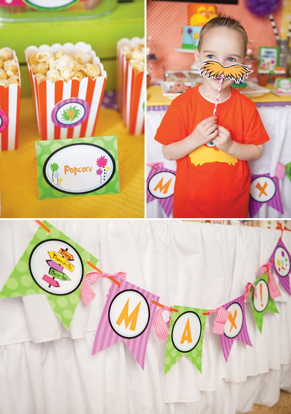 boy's lorax birthday party ideas