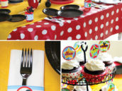mickey mouse birthday party tablescape