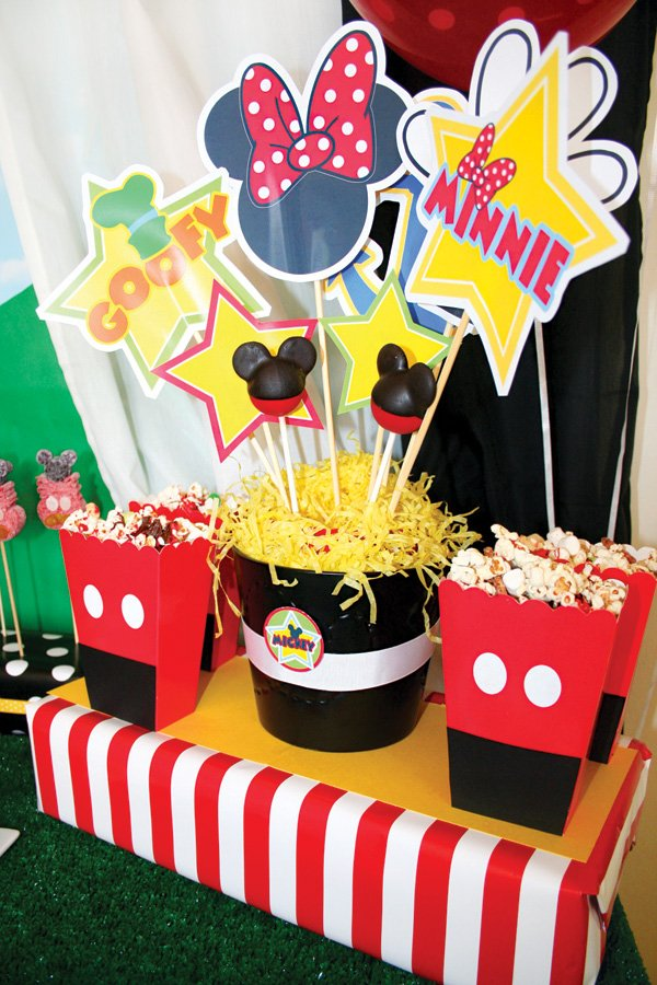 mickey mouse photo booth props and party silhouettes
