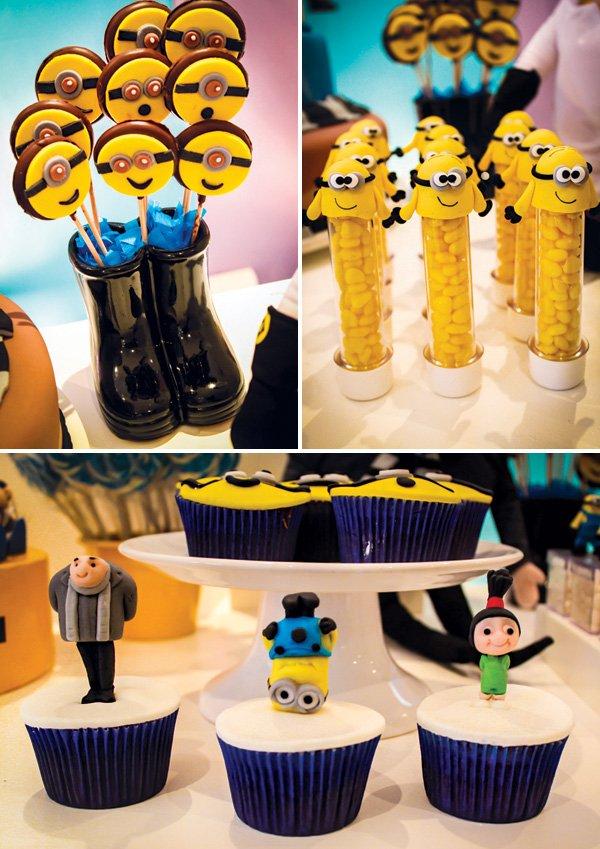 minion birthday party desserts
