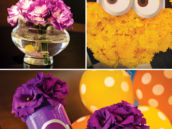 minion birthday party flower decor