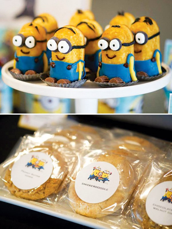 minion twinkies and cookie labels