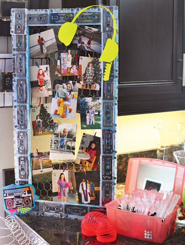 music cassette tape photo board decoration