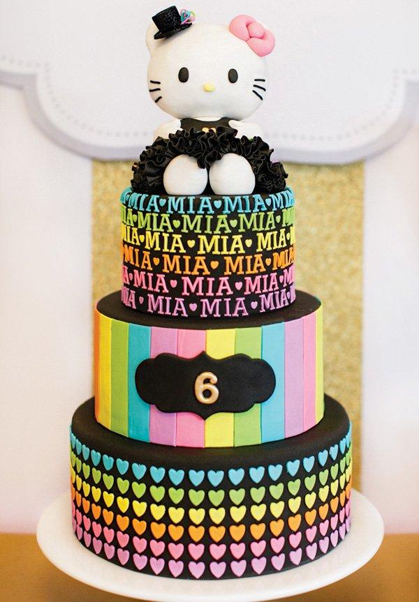 Neon Rainbow Hello Kitty Birthday Party Hostess With The Mostess