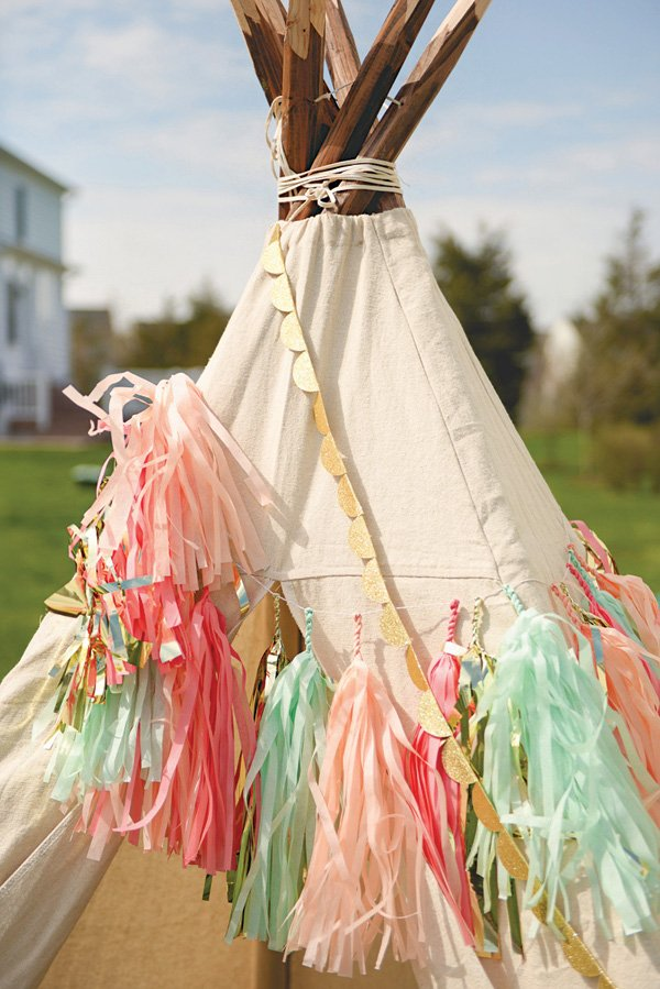 neverland party teepee