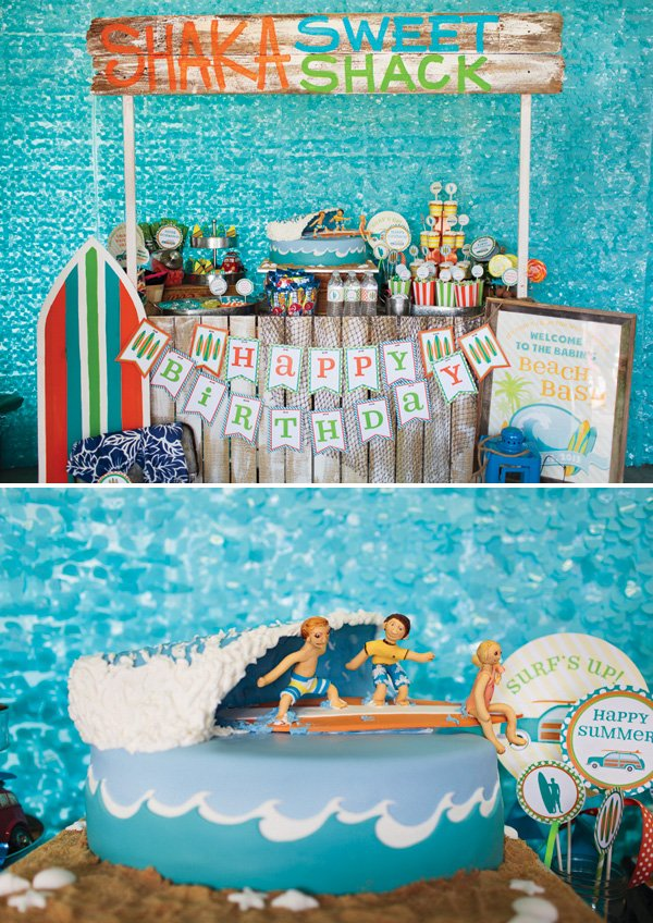 ocean beach party snack shack dessert table