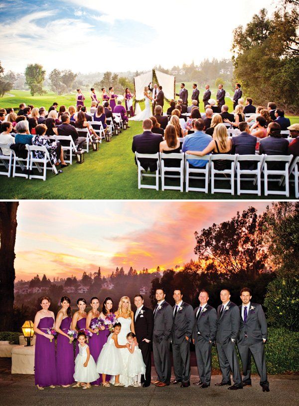 outdoor wedding venue at sunset