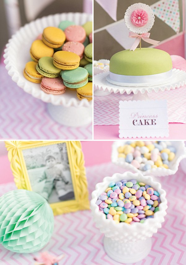 girly pastel party desserts