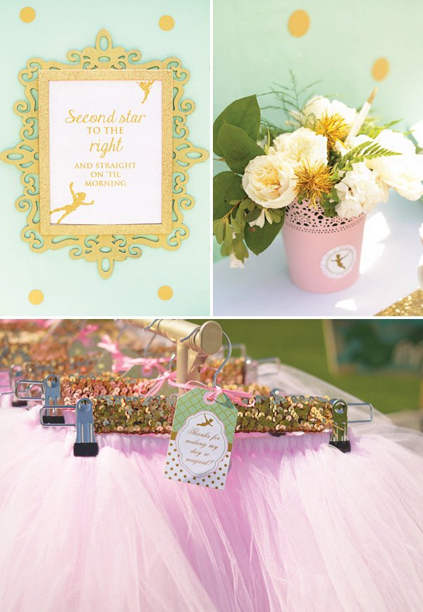 peter pan decorations and tutu favors
