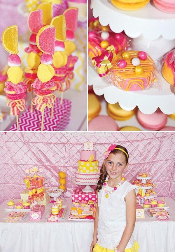 pink lemonade birthday party desserts