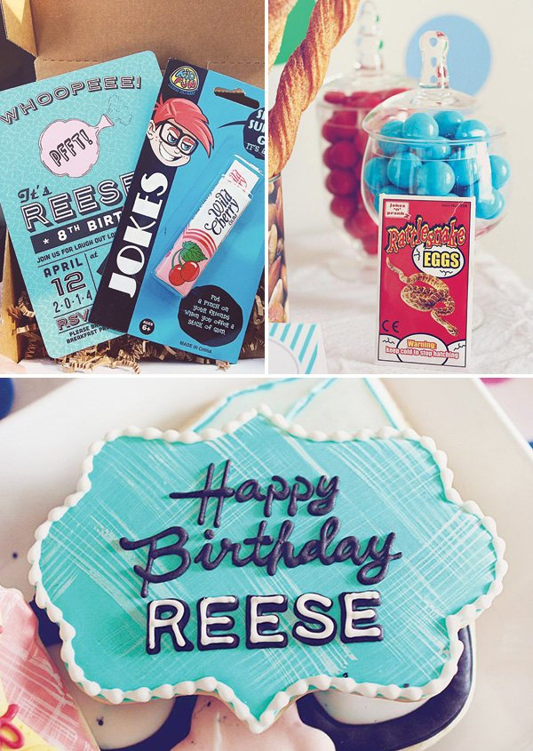prank birthday party decor and dessert ideas