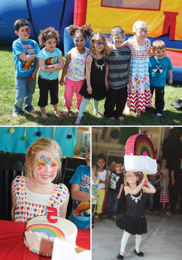 rainbow birthday party activities