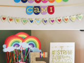 rainbow birthday party decoration ideas