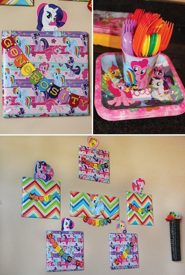 rainbow dash birthday party entryway decor