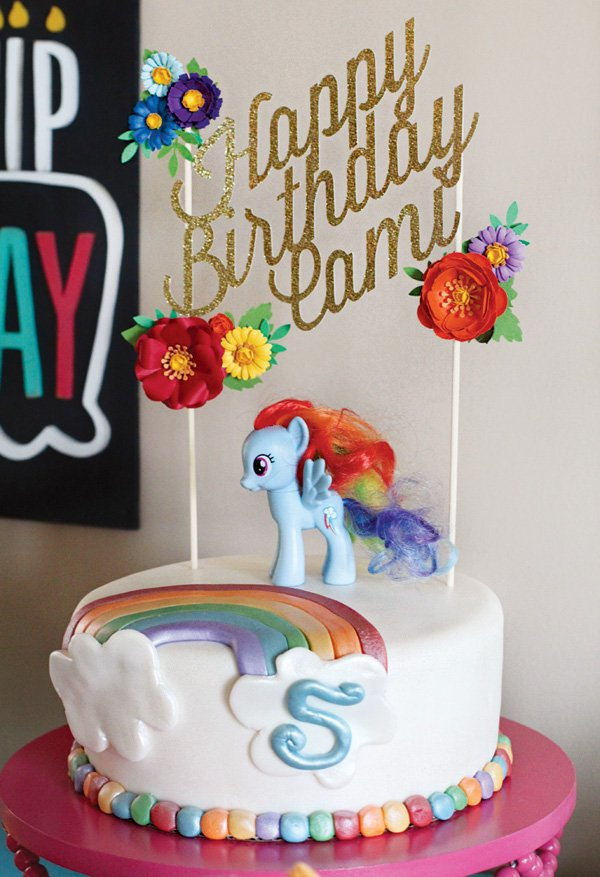 Rainbow Dash My Little Pony Birthday Party Hostess With