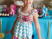 rainbow birthday party pony dress