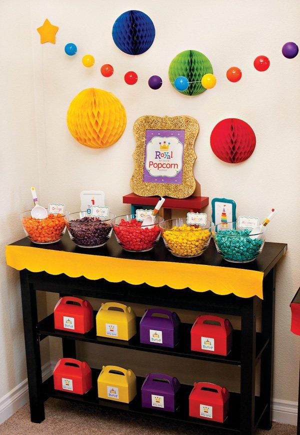 Rainbow Popcorn Buffet