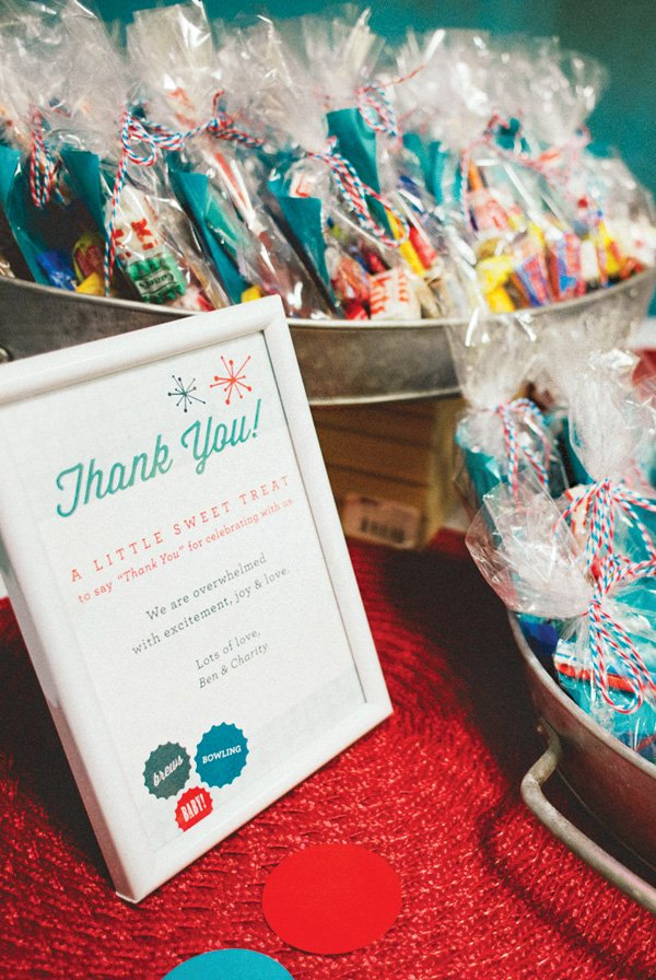 retro candy bag party favors