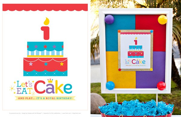 free royal birthday printables from HWTM - 8x10 Sign
