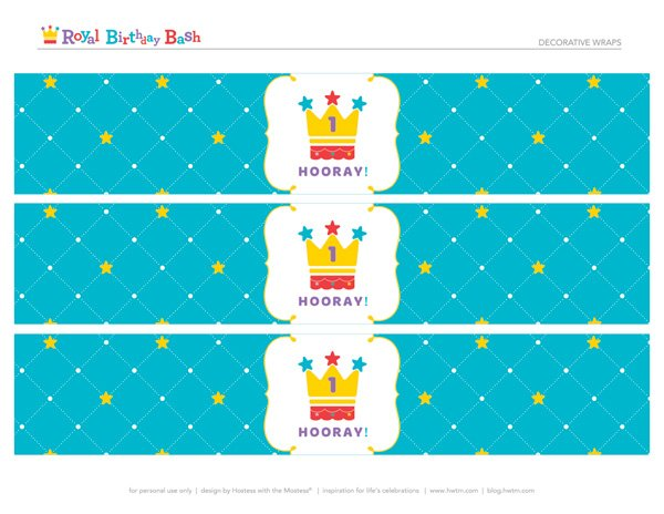 free royal birthday printables from HWTM - Decorative Wraps