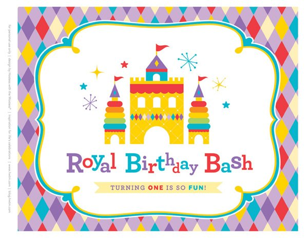 free royal birthday printables from HWTM - Welcome Sign